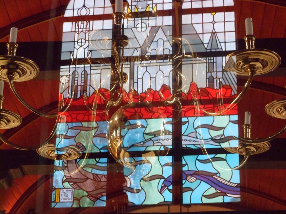 Glas in lood Joost Swarte Bakenesserkerk (foto Bianca Linders)
